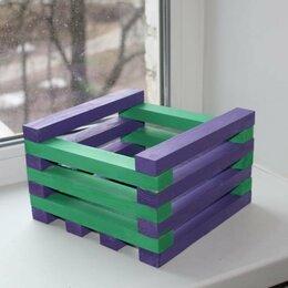 Горшки, подставки для цветов - Авторские деревянные кашпо , 0