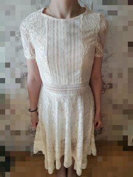 Платья - Платье белое с кружевом, 0