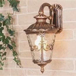 Уличное освещение - Diadema D черное золото уличный настенный светильник GLYF-8046D, 0