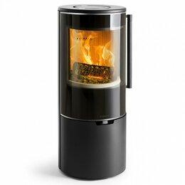 Камины и печи - Печь K900, низкая, черная, хромированная окантовка стекла (Keddy), 0