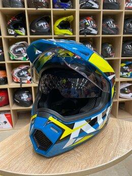 Мотоэкипировка - Ataki 802 шлем мотард эндуро с очками, 0