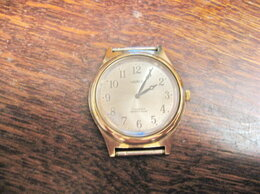 Наручные часы - Часы наручные Чайка, 17 камней, позолоченные, СССР, 0