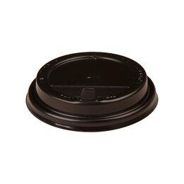 Одноразовая посуда - Крышка с клапаном темная для стакана, 0