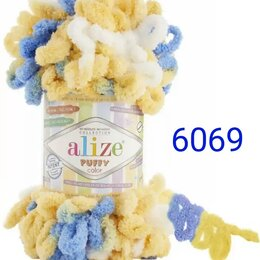 Рукоделие, поделки и сопутствующие товары - Пряжа Alize Puffy Color 6069, 0