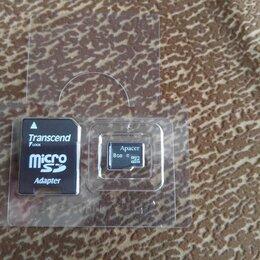 Карты памяти - Карта памяти Micro SD Apacer на 8Гб HC, 0
