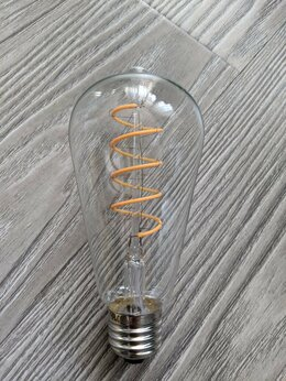 Интерьерная подсветка - LED ретро-лампа с гибкими филаментами, 0