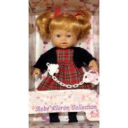 Куклы и пупсы - Кукла-пупс Falca 32 см, девочка с хвостиками, плачет, с соской, 0