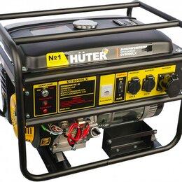 Электрогенераторы и станции - Генератор бензиновый Huter DY4000LХ , 0