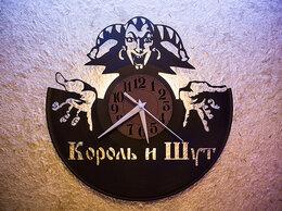 """Часы настенные - Часы с группой """"Король и Шут"""" из виниловой…, 0"""