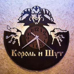 """Часы настенные - Часы с группой """"Король и Шут"""" из виниловой пластинки, 0"""