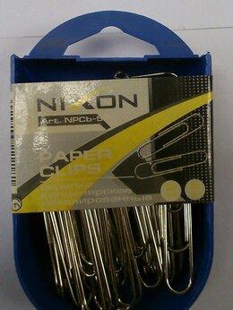 Строительный скотч - Скрепки 50мм никелированные Nixon 50шт пластик…, 0