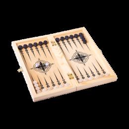 Настольные игры - Игра 2 в 1 (шашки, нарды) малая Классика (022-09), 0