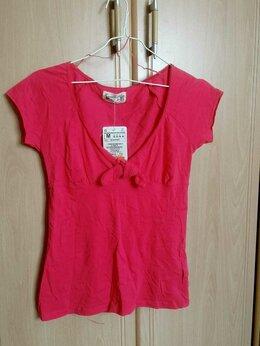 Блузки и кофточки - Розовый топ Zara, хлопок, размер М, новый, 0
