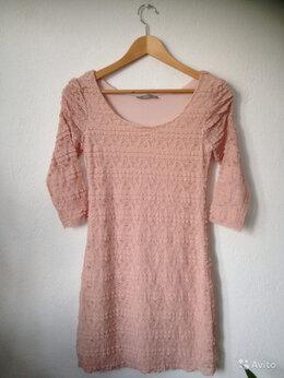 Платья - Платье стрейч кружевное, 0