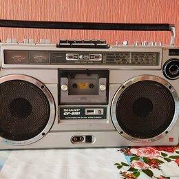 Музыкальные центры,  магнитофоны, магнитолы - Ретро магнитола SHARP GF-9191, 0