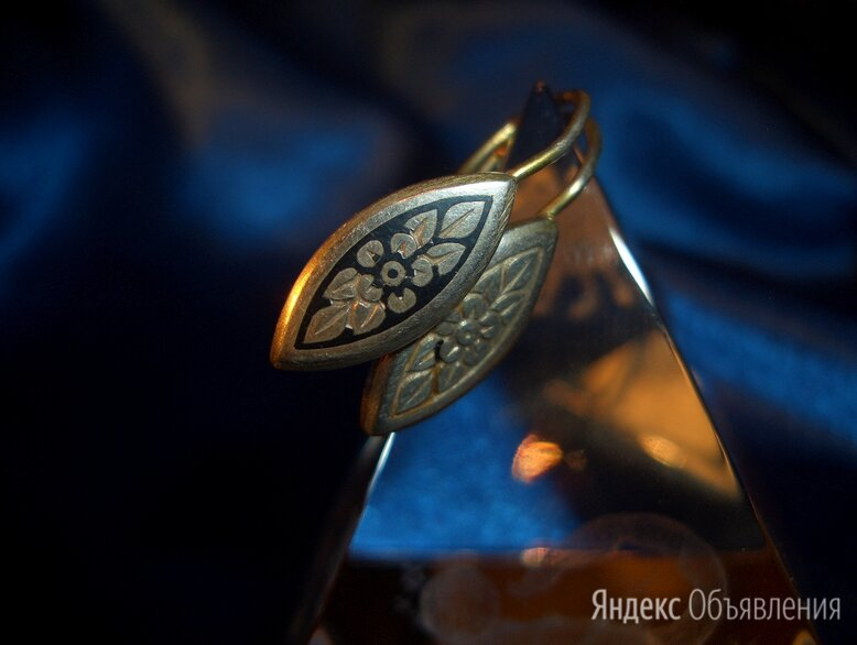 Серьги Серебро 925 Проба СССР Винтаж севернаячернь по цене 600₽ - Серьги, фото 0