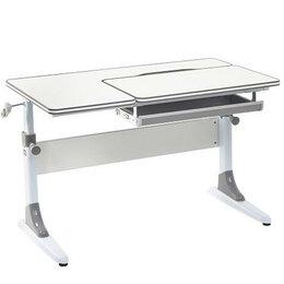 Компьютерные и письменные столы - Парта растущая детская с выдвижным пеналом серая…, 0