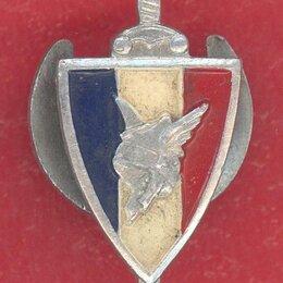Жетоны, медали и значки - Франция Виши фрачный знак комбатанта LVF Легион французских добровольцев, 0