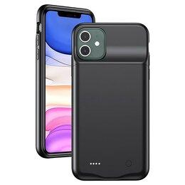 Универсальные внешние аккумуляторы - Внешний АКБ чехол iPhone 11 USAMS 4500mAh, 0