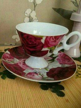 Кружки, блюдца и пары - Чайная пара. Фарфор. , 0