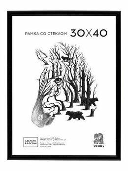 Фоторамки - Рамка 30*40 пластик черная Zebra арт. 508 /15, 0