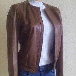 Куртки - Куртка кожаная Massimo Dutti, р.42-44, 0