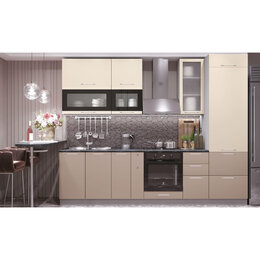 Мебель для кухни - Модульный кухонный гарнитур «Олива» 2900 (ваниль…, 0