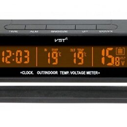 Часы настольные и каминные - Часы автомобильные VST7010V  (температура, будильн, 0