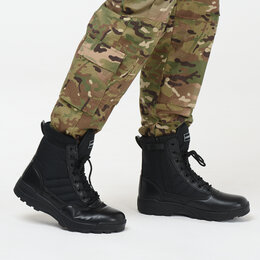 Ботинки - Берцы тактические Combat S.W.A.T. черный, 0