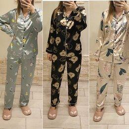 Домашняя одежда - Новые атласные женские пижамы 42-50 размеры, 0