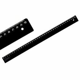 Измерительные инструменты и приборы - Линейка 40см черн  СТАММ ЛН55  /100, 0