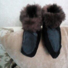 Домашняя обувь - Меховые тапки из натуральнои овчины с37-43 размер, 0