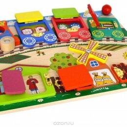 "Развивающие игрушки - Бизиборд ""Вагончики"", 0"