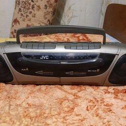 Музыкальные центры,  магнитофоны, магнитолы - Двухкассетная магнитола JVC R-W301 с FM-радио , 0