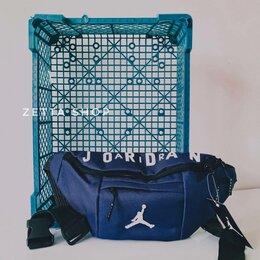 Сумки - Сумка на пояс Jordan синяя, 0