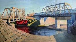 """Картины, постеры, гобелены, панно - Картина маслом на холсте """"Два моста"""", 0"""