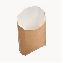 Упаковочное оборудование - Упаковка бум. для картоф. фри 126x50x135мм крафт…, 0