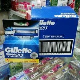Бритвы и лезвия - Сменные кассеты Gillette mach3 и mach3 turbo 4шт, 0