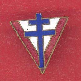 Жетоны, медали и значки - Франция фрачный знак ветеран Свободные французские силы Сражающаяся Франция FFL, 0
