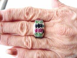 Кольца и перстни - Кольцо с самоцветами в серебре., 0