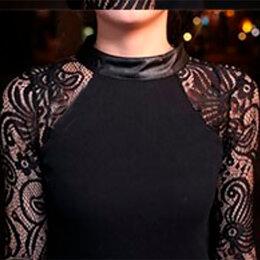 Блузки и кофточки - Блуза с кружевными рукавами (новая), р. 46-48, 0