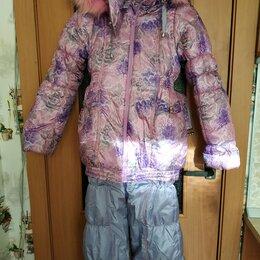 Комплекты верхней одежды - Куртка и комбинезон зимние на девочку р. 134, 0