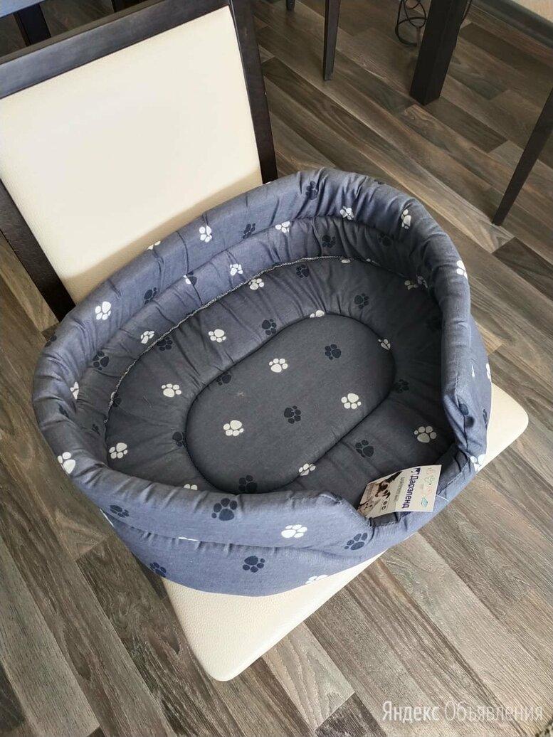 Лежак для собак и кошек Дарэлл Овальный стёганый 9142 53х42х16 см серый по цене 850₽ - Лежаки, домики, спальные места, фото 0