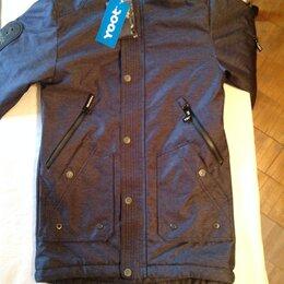 Куртки и пуховики - Куртка д/м на флисе, весна, цвет синий, 0