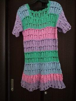Блузки и кофточки - Фантазийная женская туника, ручная вязка крючком, 0