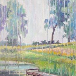 """Картины, постеры, гобелены, панно - Картина """"Плач дождя"""", холст, масло, 50*70 см, 0"""