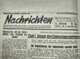 Журналы и газеты - немецкая Газета Nachrichten 13.12.1931…, 0