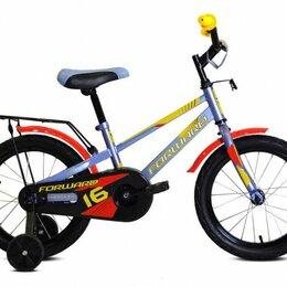 Велосипеды - Детский велосипед FORWARD Meteor 16 серо-голубой/красный (2020), 0