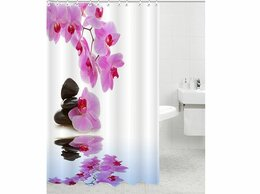Шторы и карнизы - Rpe-730006 штора для ванной комнаты, 0