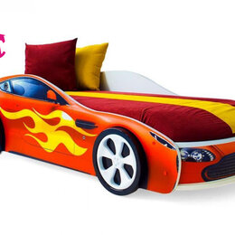 Кроватки - Кровать-машина Бондмобиль, красный, 0